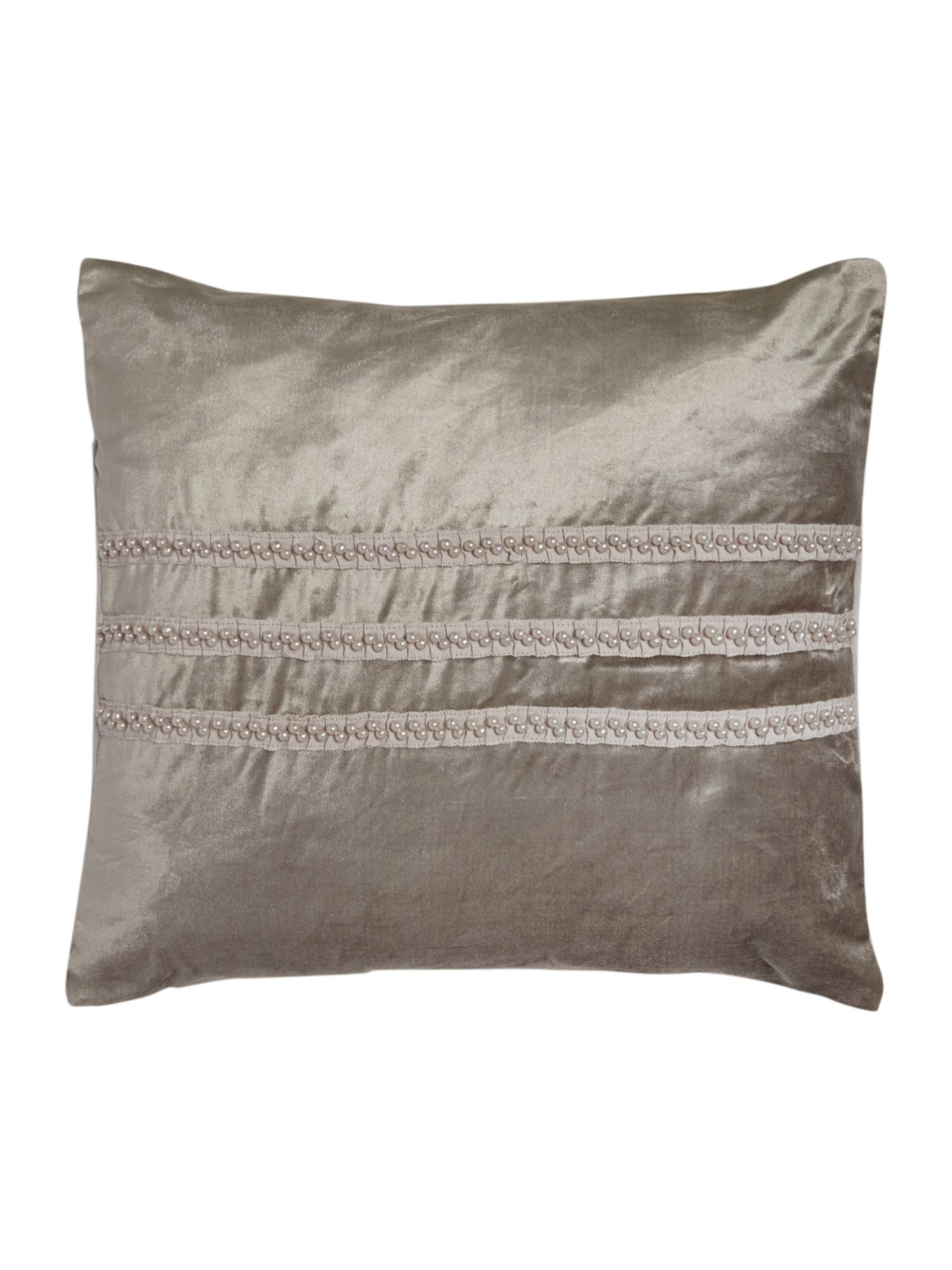 Pearl pleat cushion dove grey
