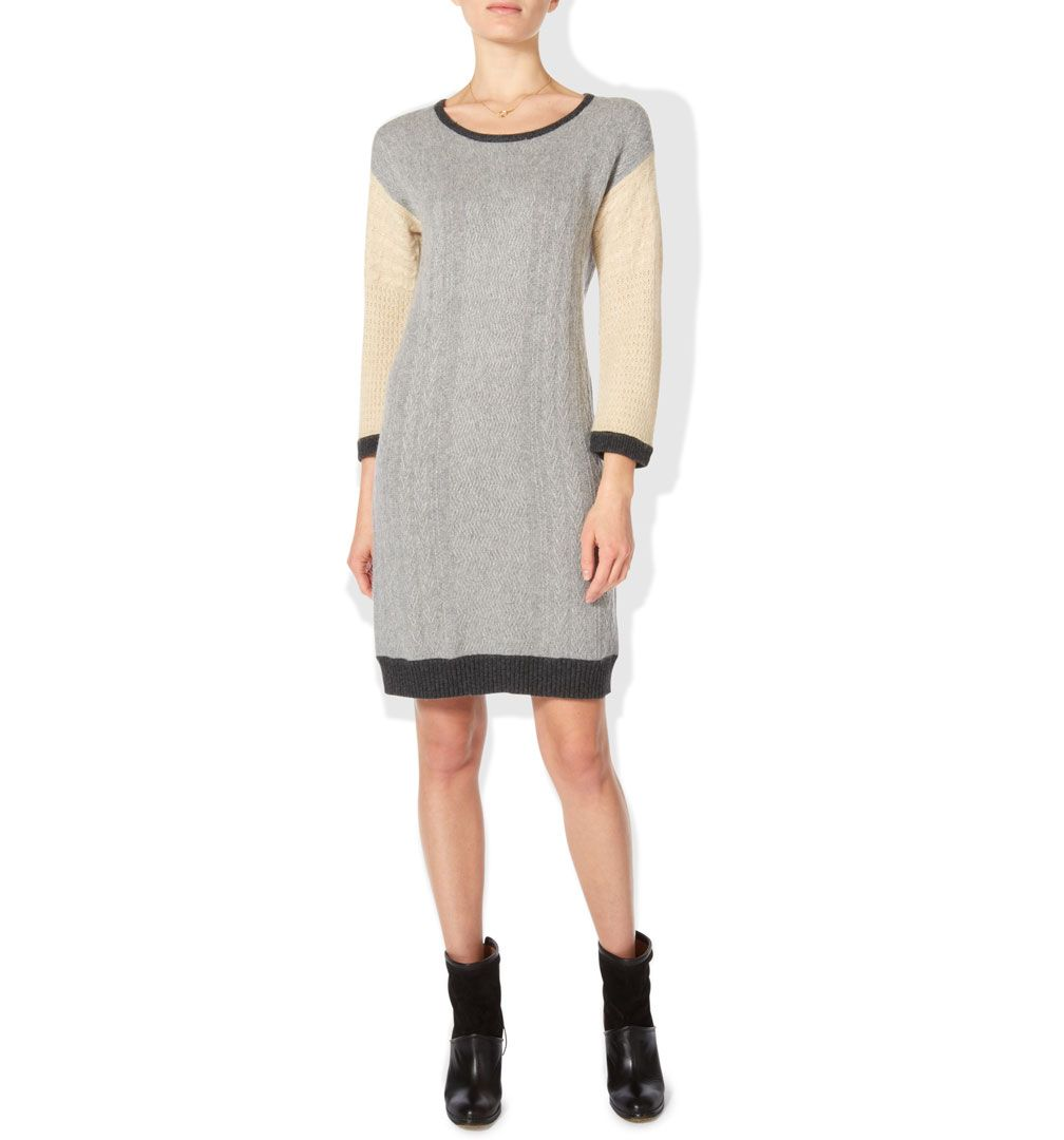 Cable col block dress