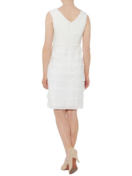 Adrianna Papell Shutter pleat jersey dress