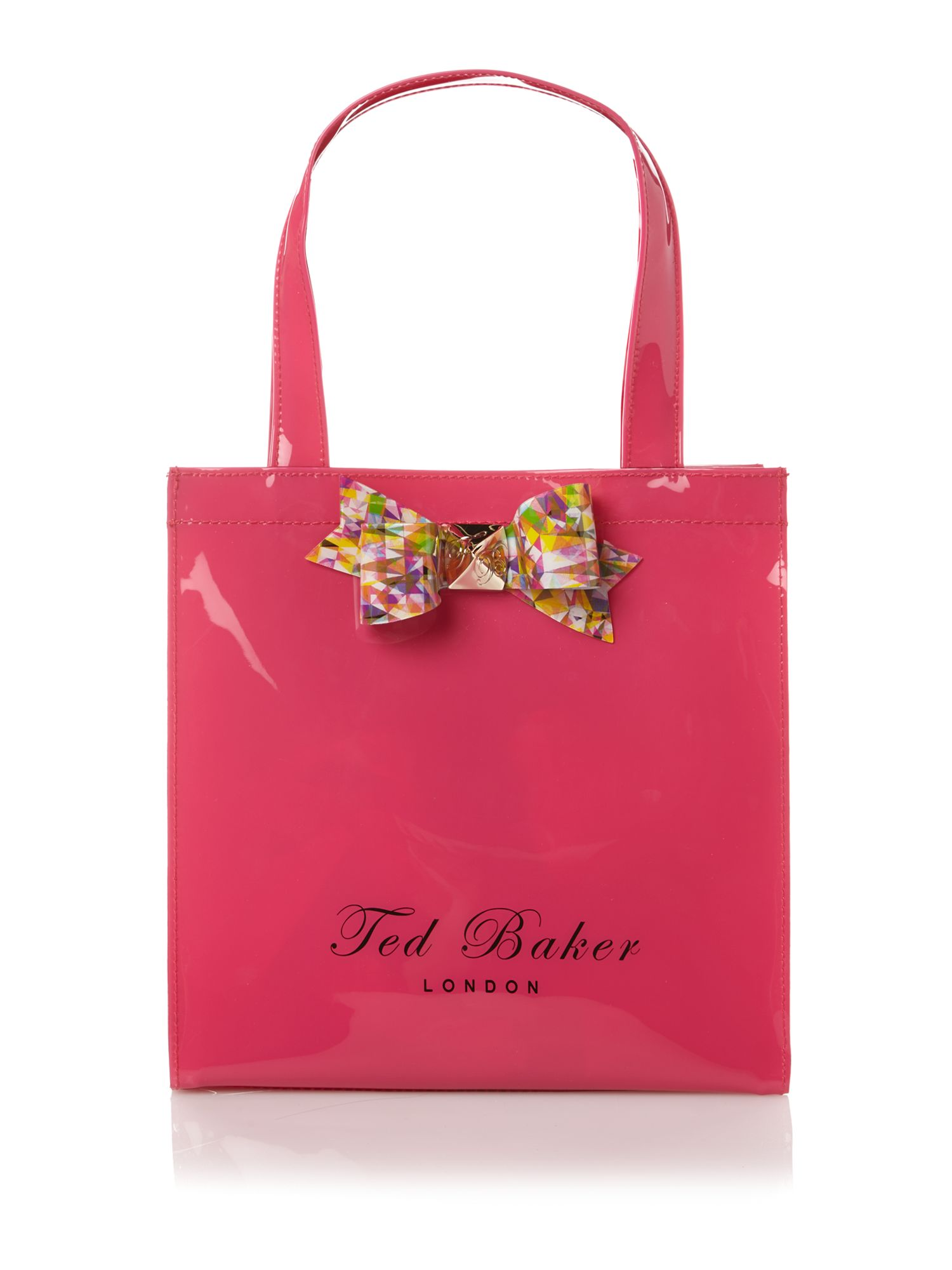 Printed bow small tote