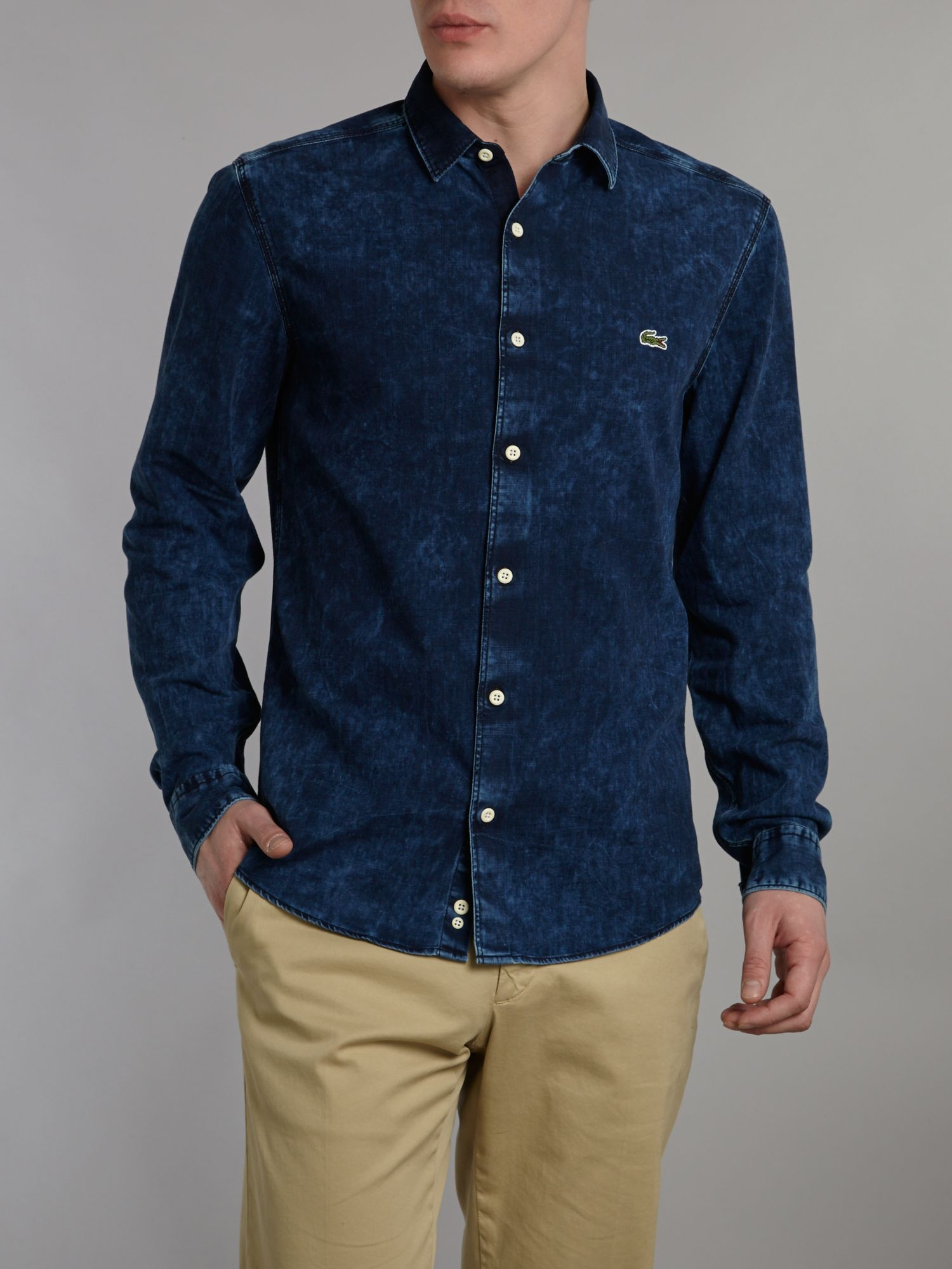 Long sleeved denim shirt