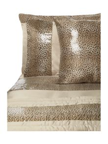 Leopard square pillowcase ivory