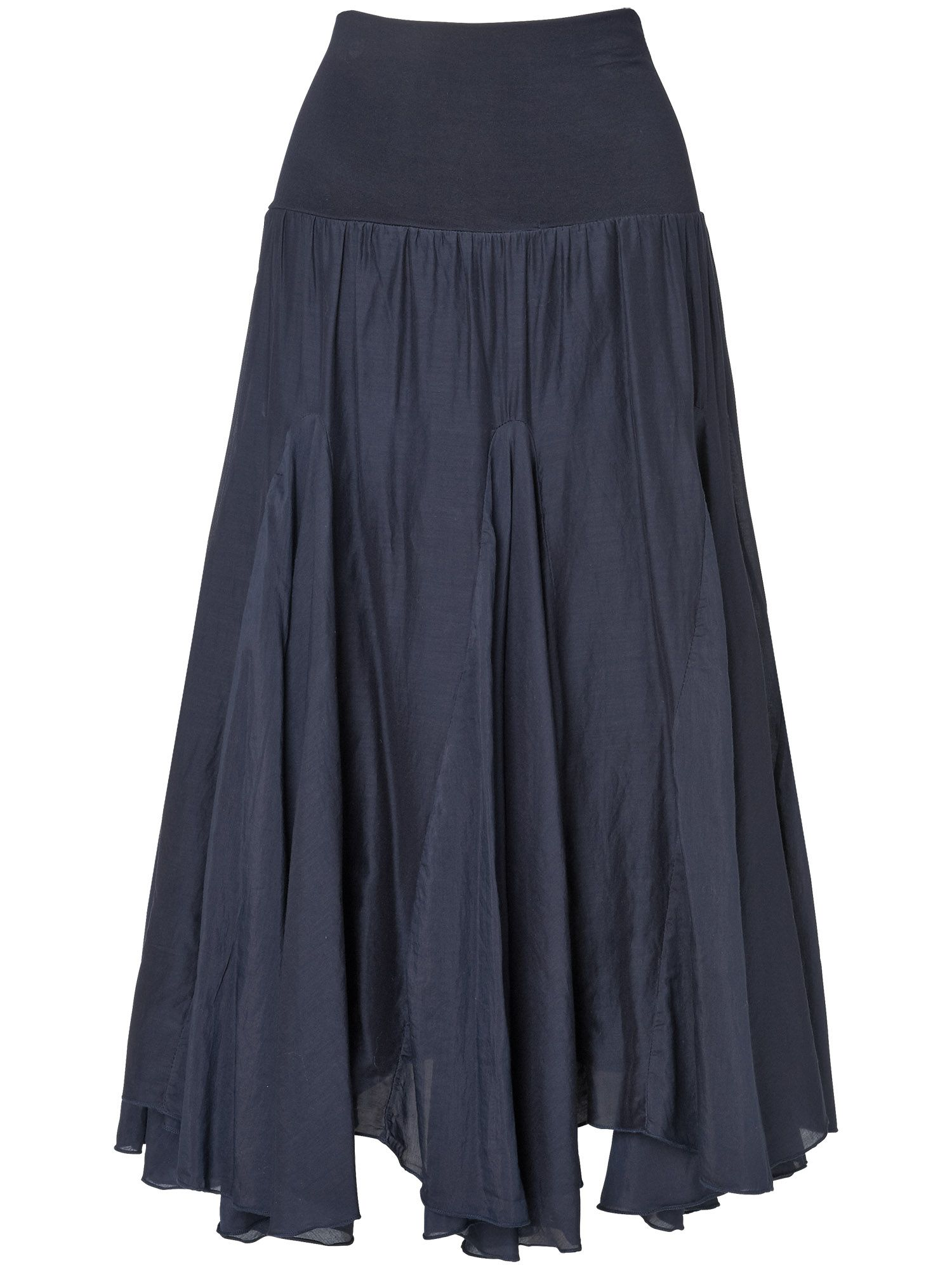 Natalia silk cotton skirt