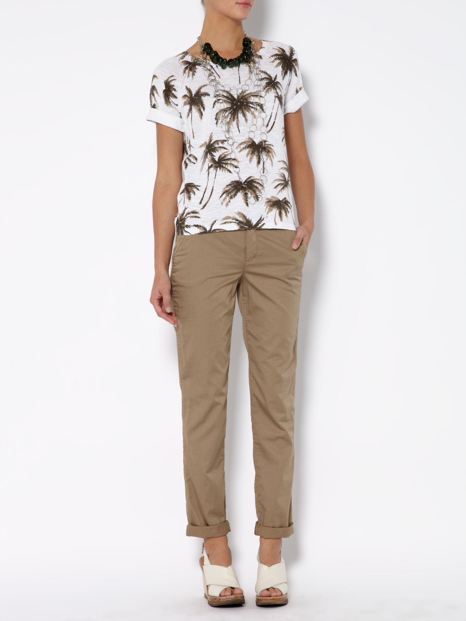 Short sleeve palm print t-shirt