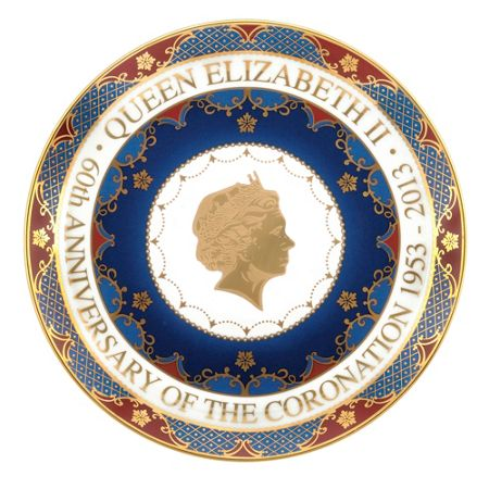 Royal Worcester Royal coronation coupe plate