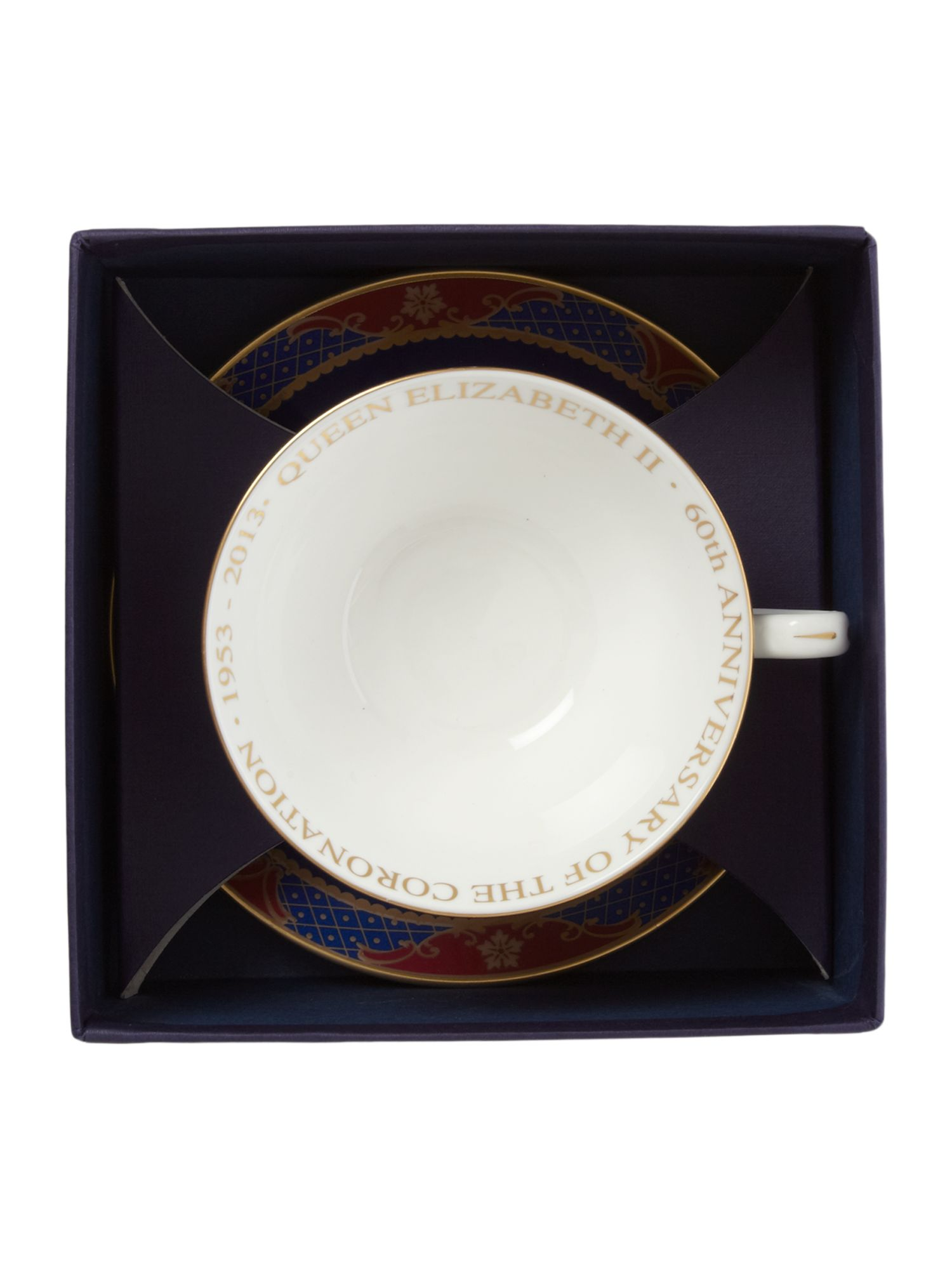 Royal coronation tea cup & saucer