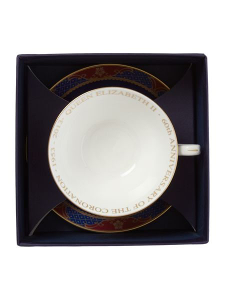 Royal Worcester Royal coronation tea cup & saucer