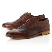Aston two tone leather lace up brogues