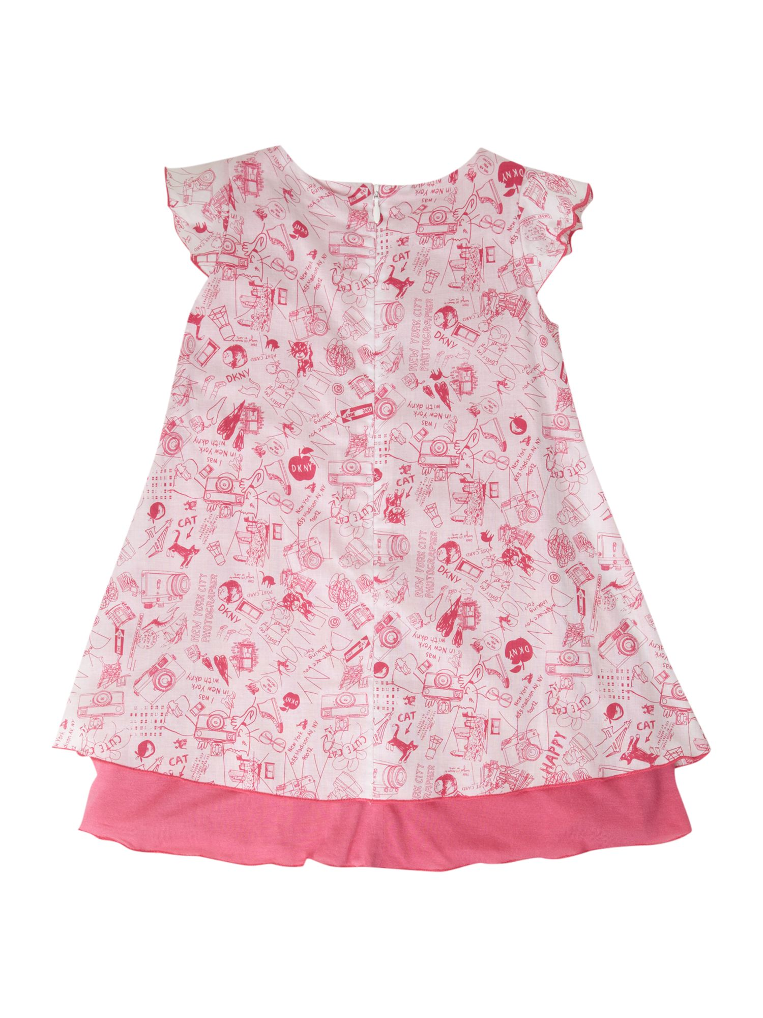 Girl`s Pink & White cotton dress