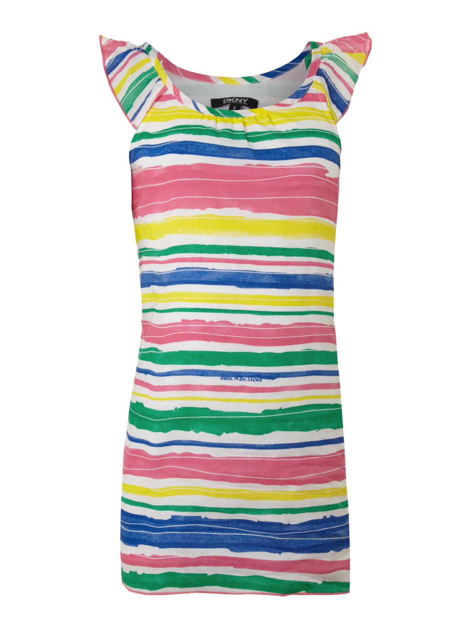 Girl`s Colourful cotton stripy dress