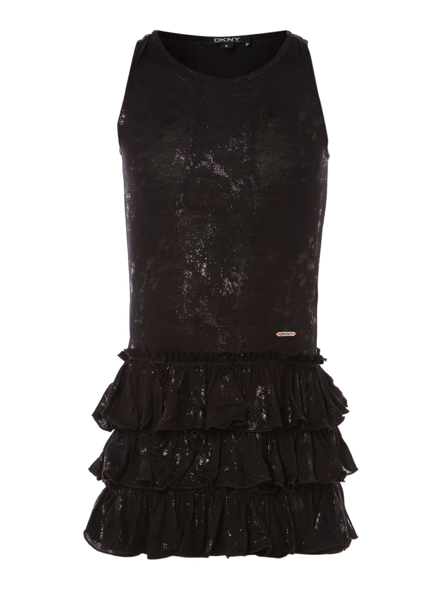 Girl`s Black sleeveless dress