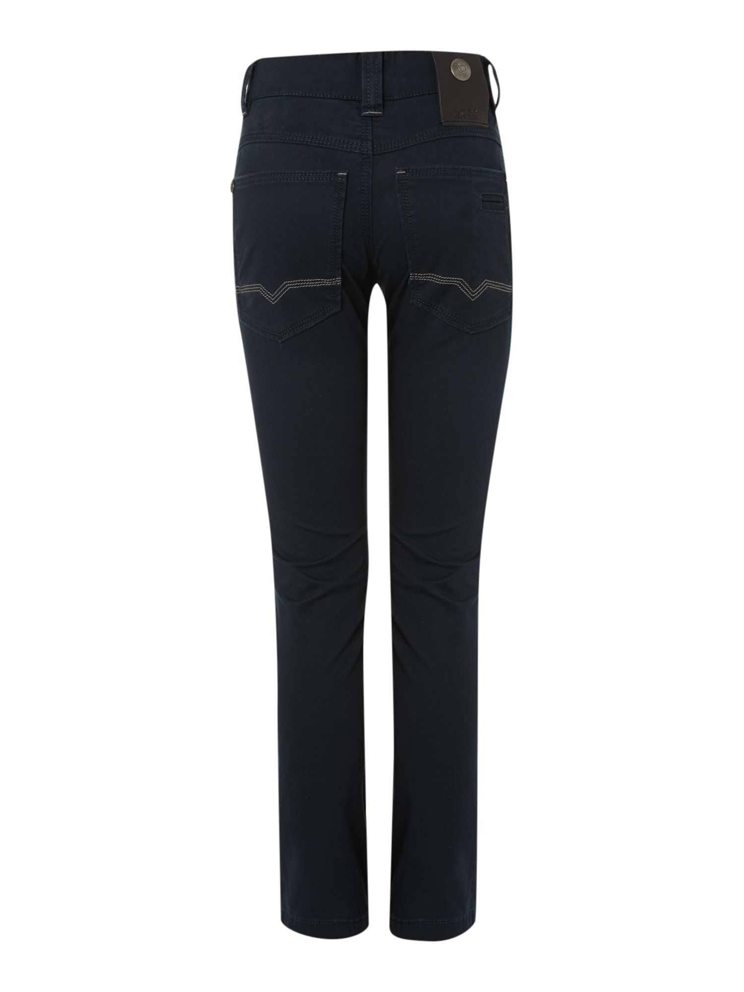 Boy`s navy slim fit trousers