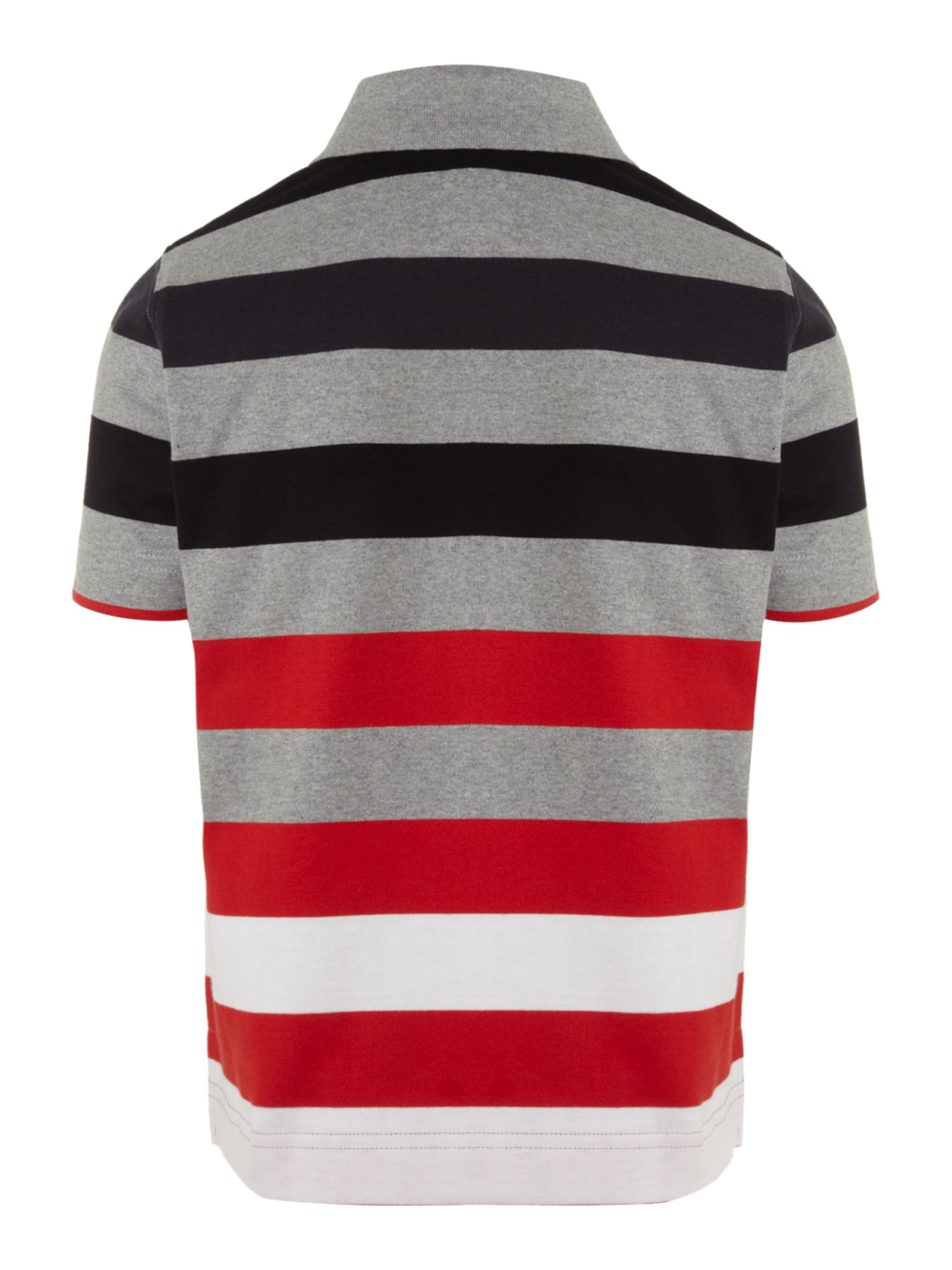 Boy`s striped cotton polo