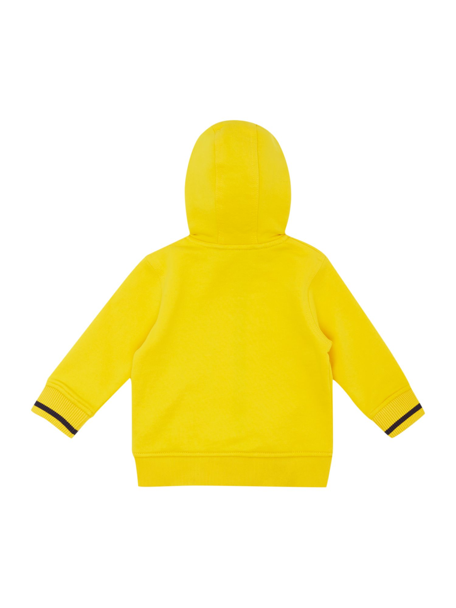 Boy`s Yellow hooded cardigan