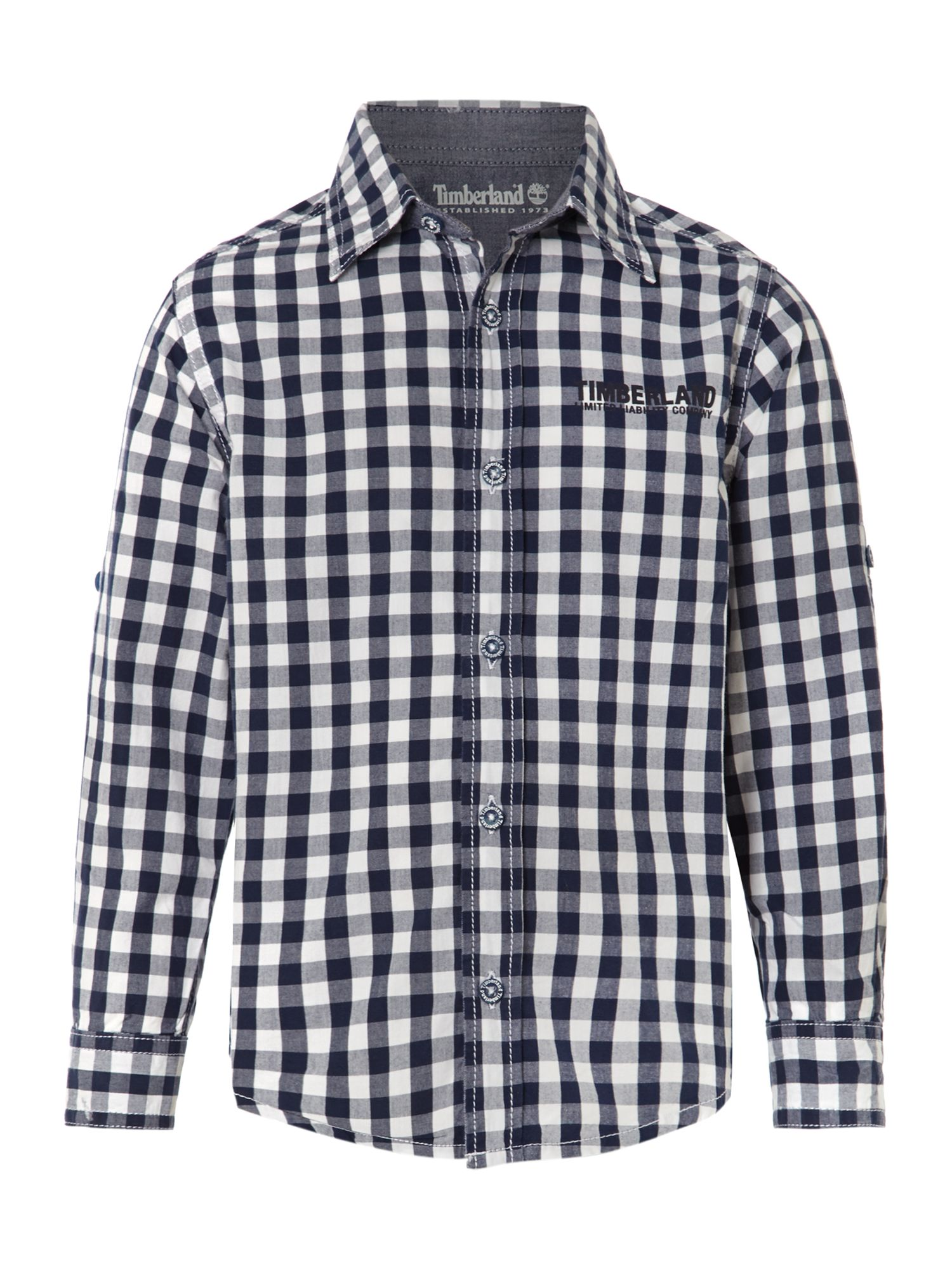 Boy`s Indigo checkered shirt