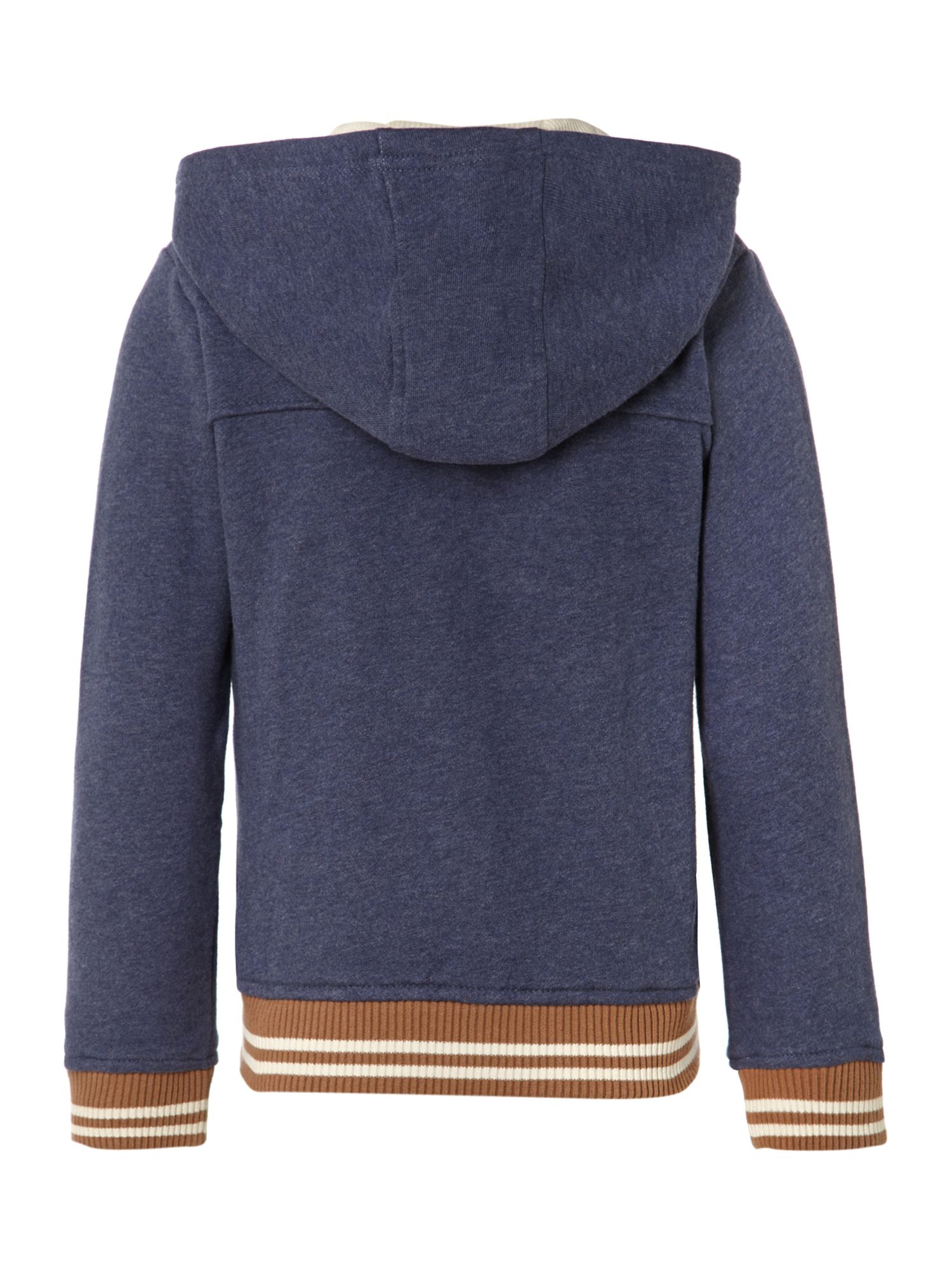 Boy`s China blue denim cardigan