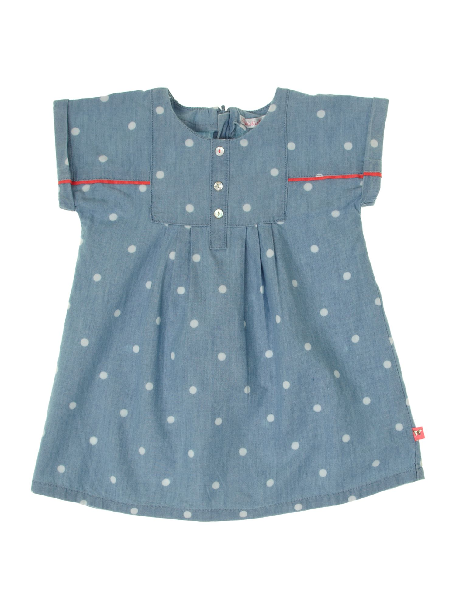 Girl`s Blue Polka Dot Dress