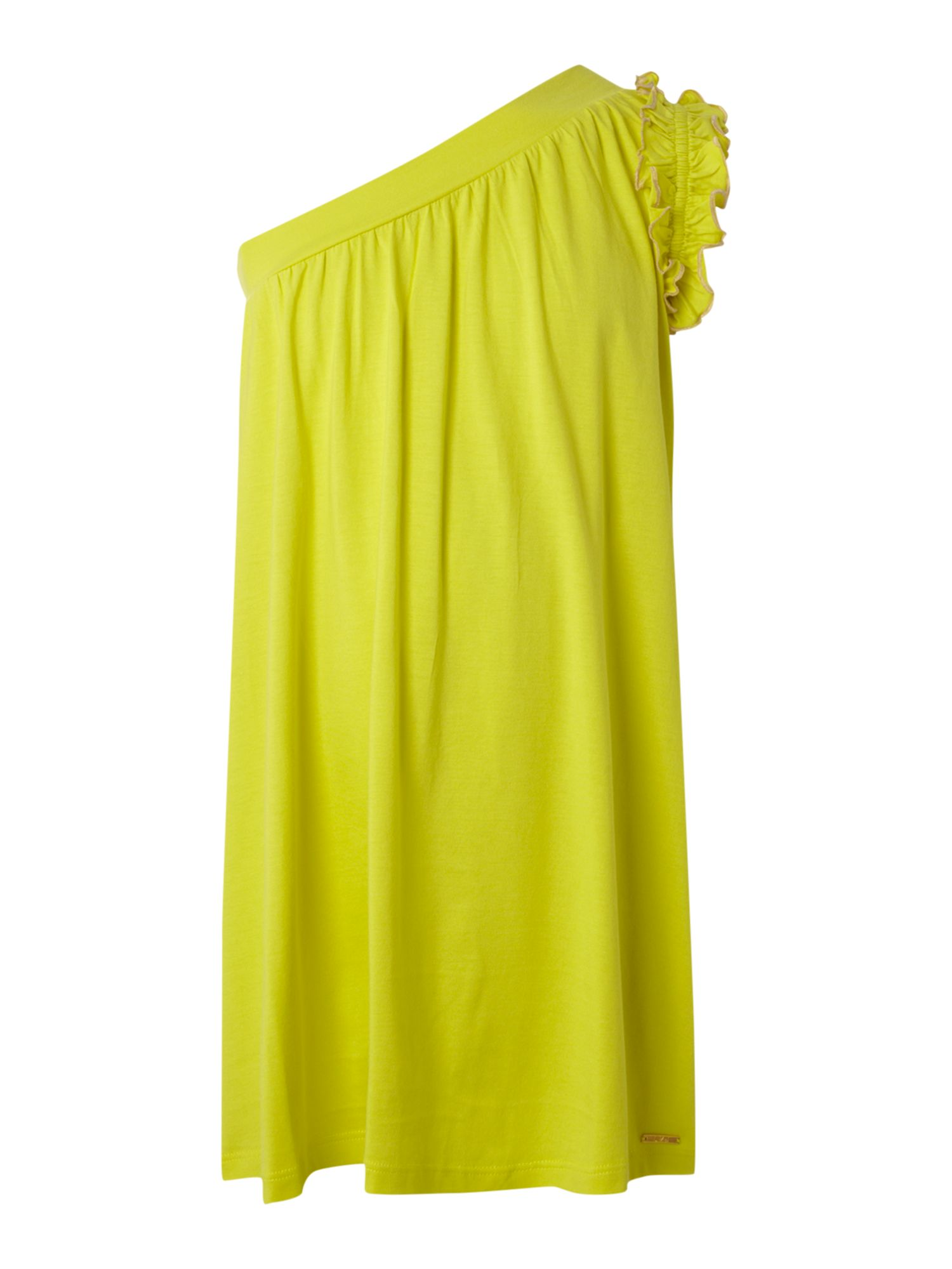 Girl`s essential yellow dress
