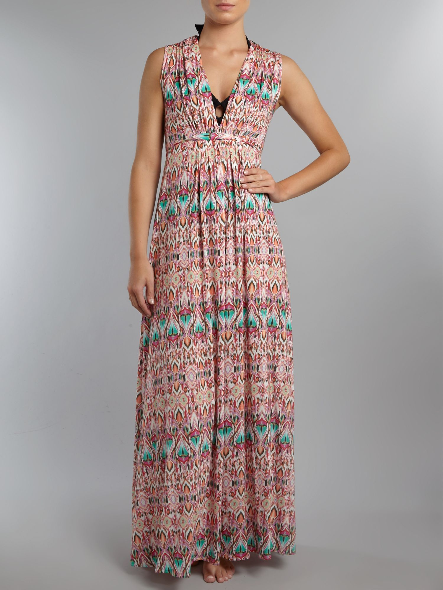 Jamiee ikat print maxi dress
