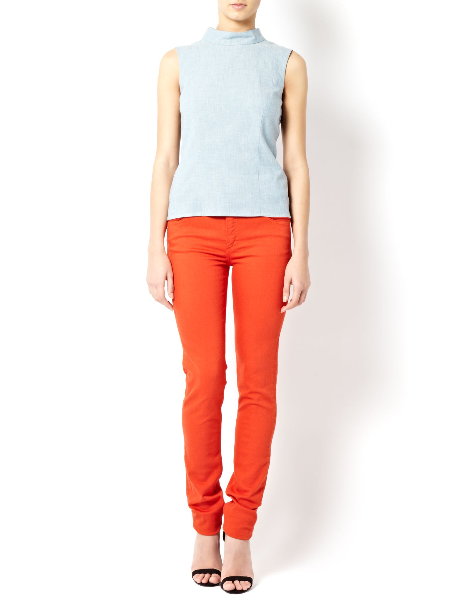 Power skinny coloured jeans