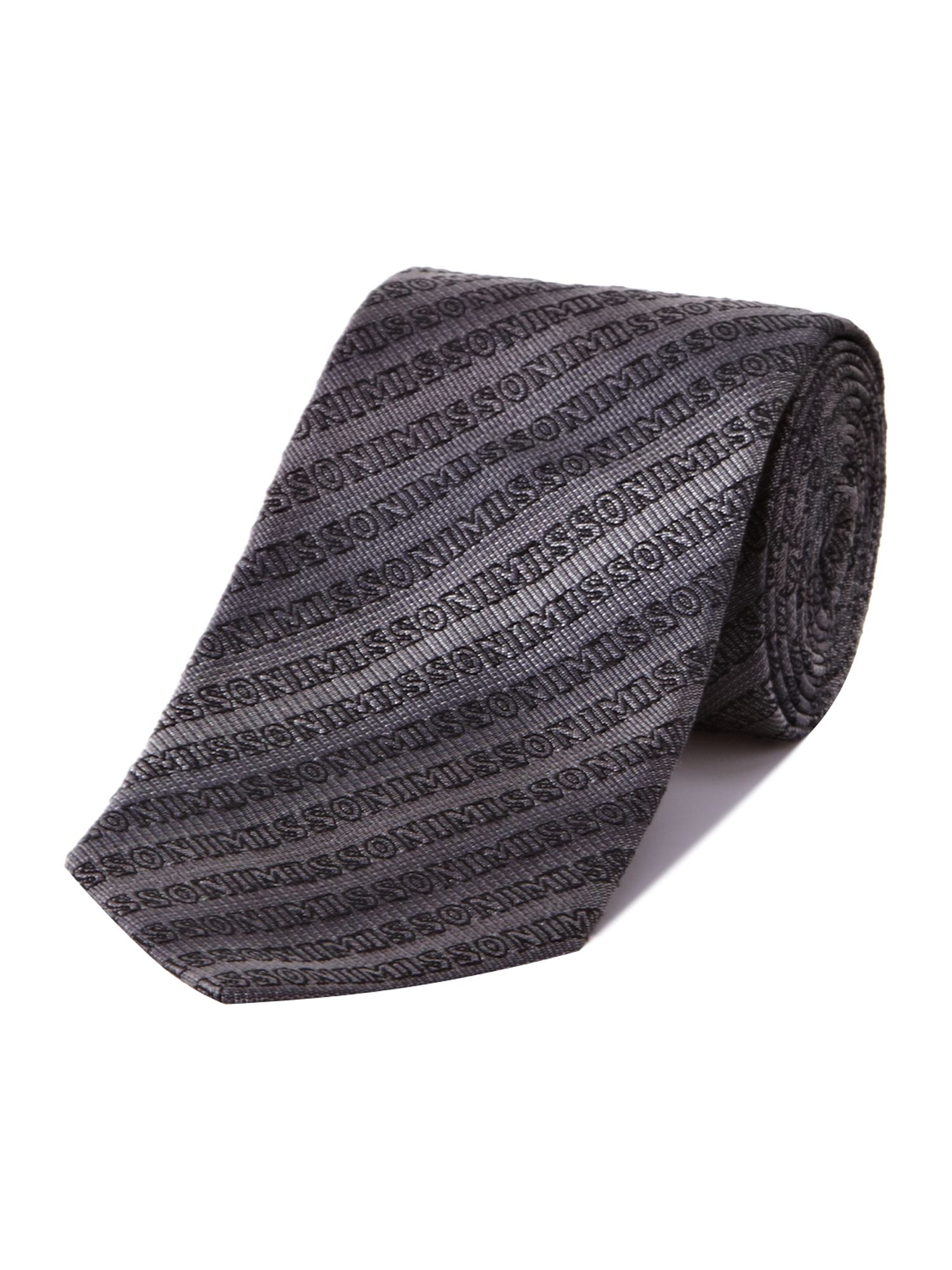 All over missoni logo tie