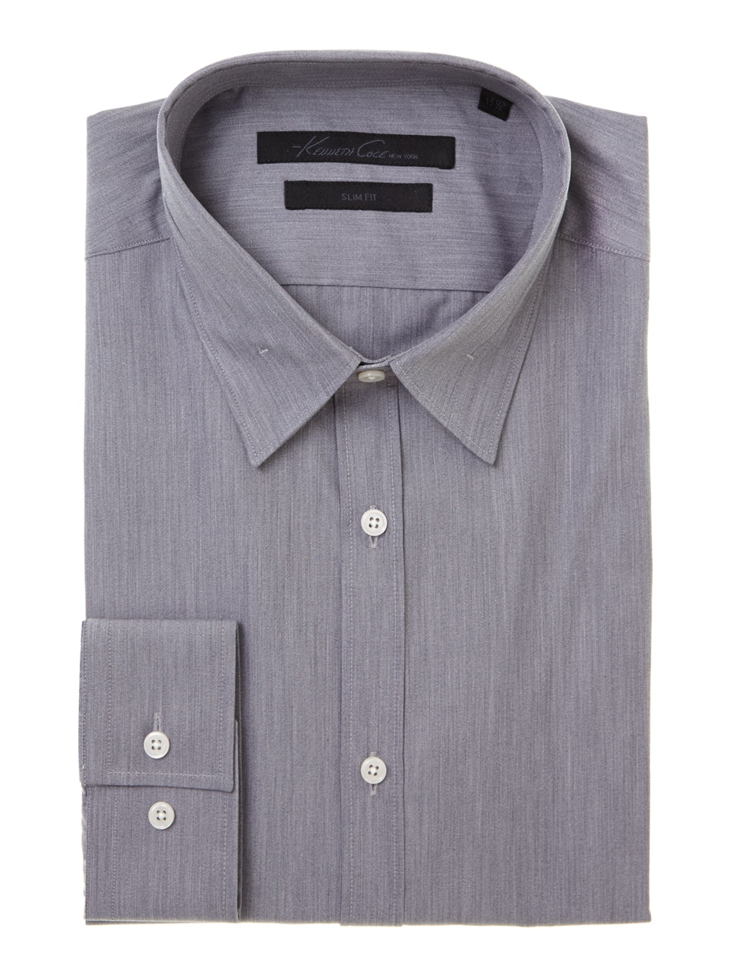 Creason melange collar detail formal shirt