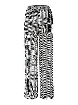 Plazzo wide leg printed trousers