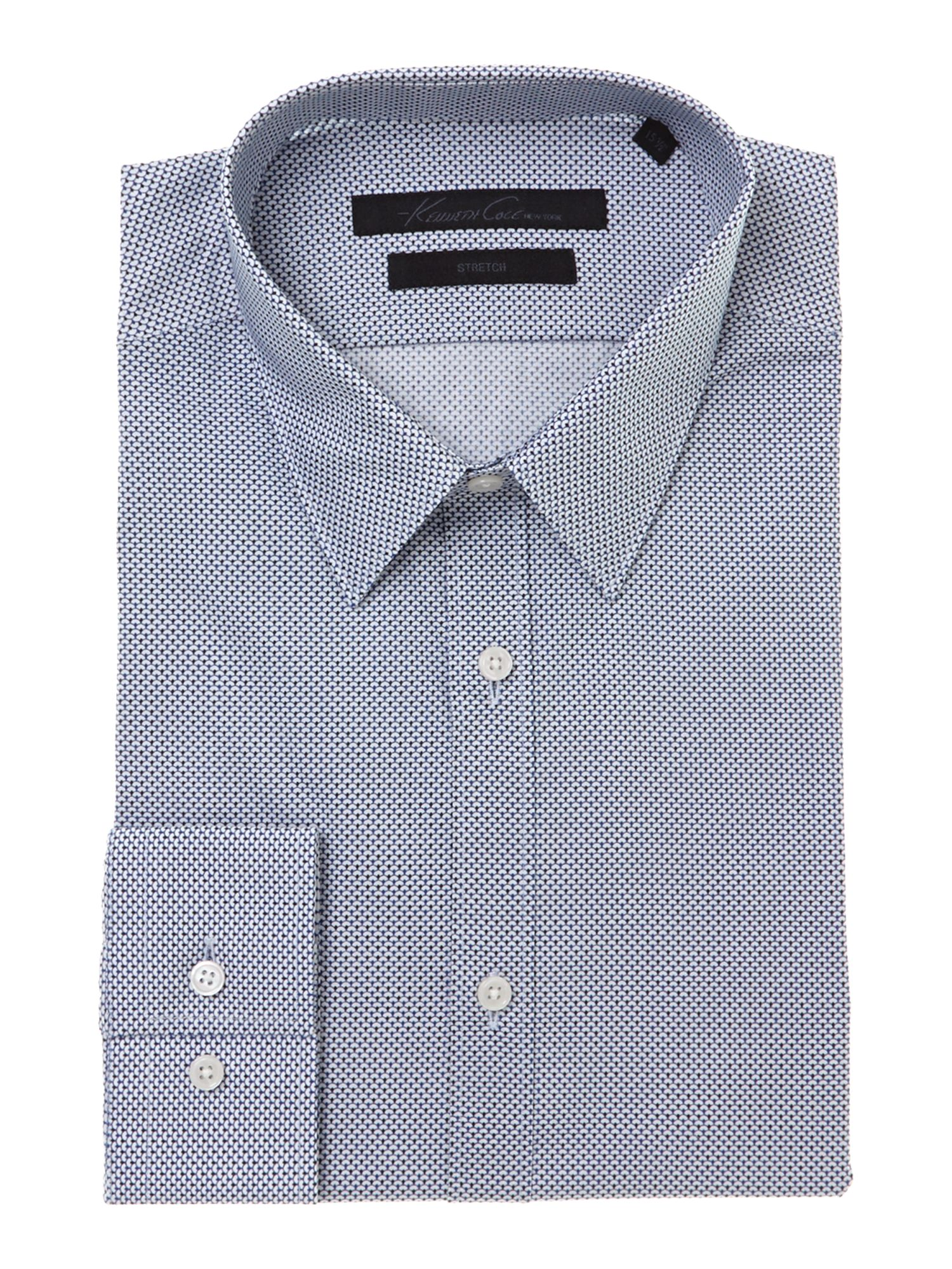 Hogan geo print single cuff stretch shirt