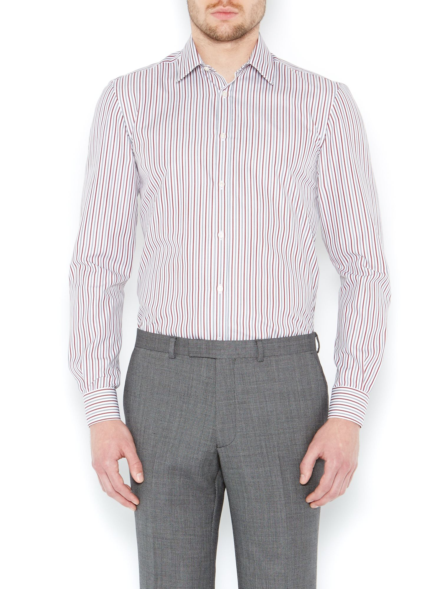 Varley Melange Stripe Single Cuff Shirt