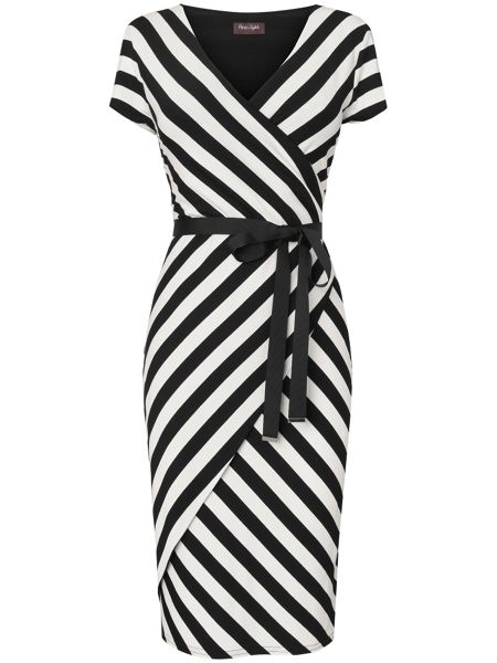 Phase Eight Lilah stripe wrap dress