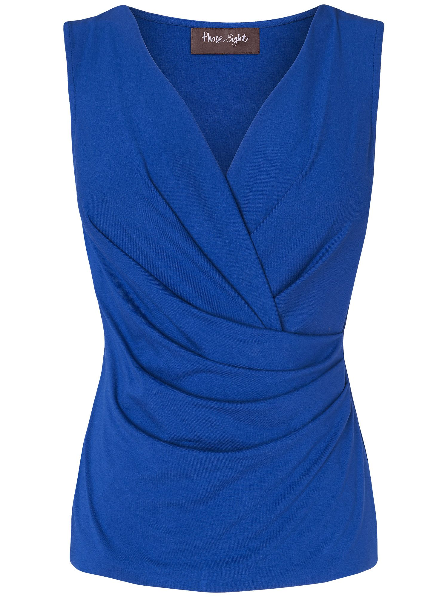 Christina sleeveless fixed wrap top