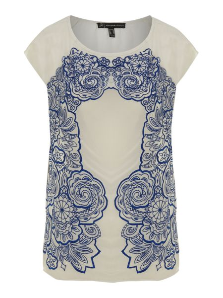 Adrianna Papell Embroidered tee