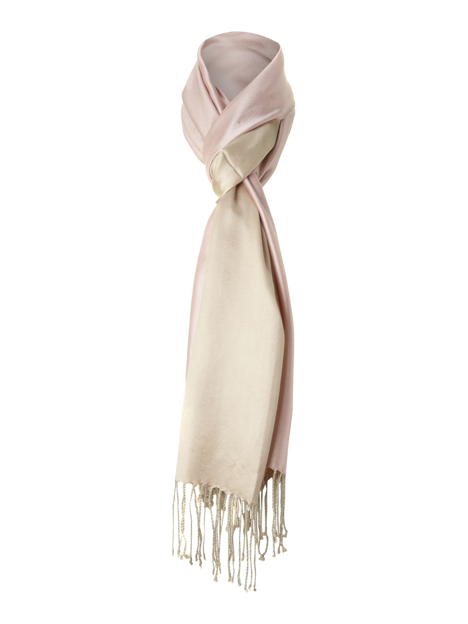 Double sided silk pashmina
