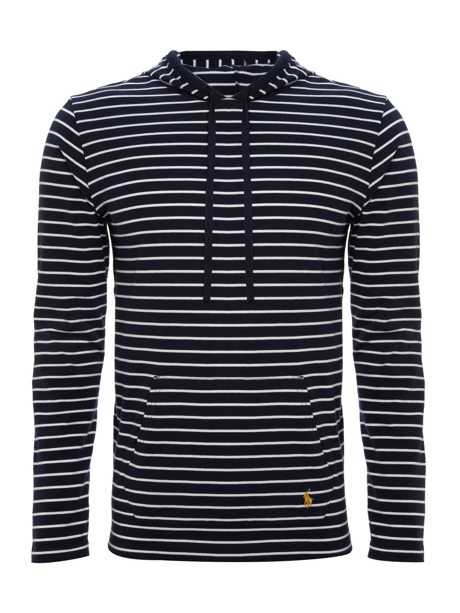 Hooded stripe jersey top
