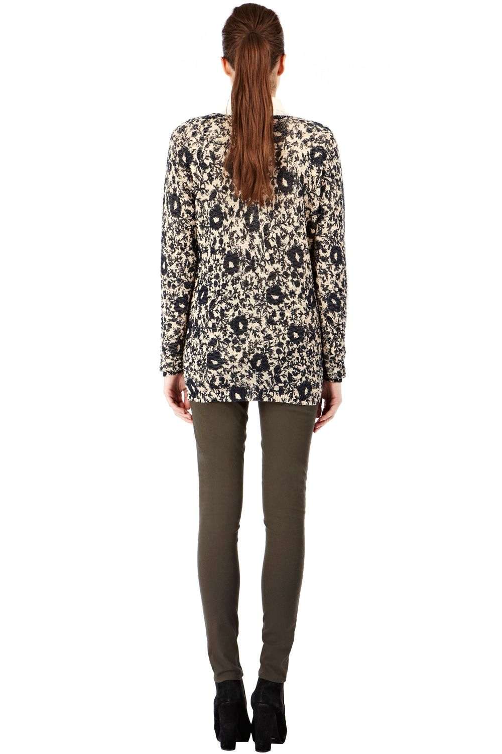 Floral print and stitch jumper