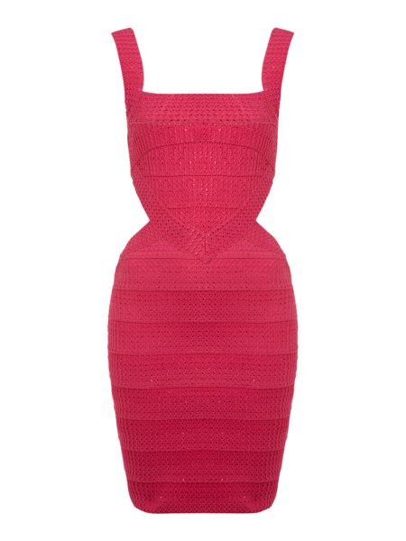 Selfish Metalic bodycon bandage dress