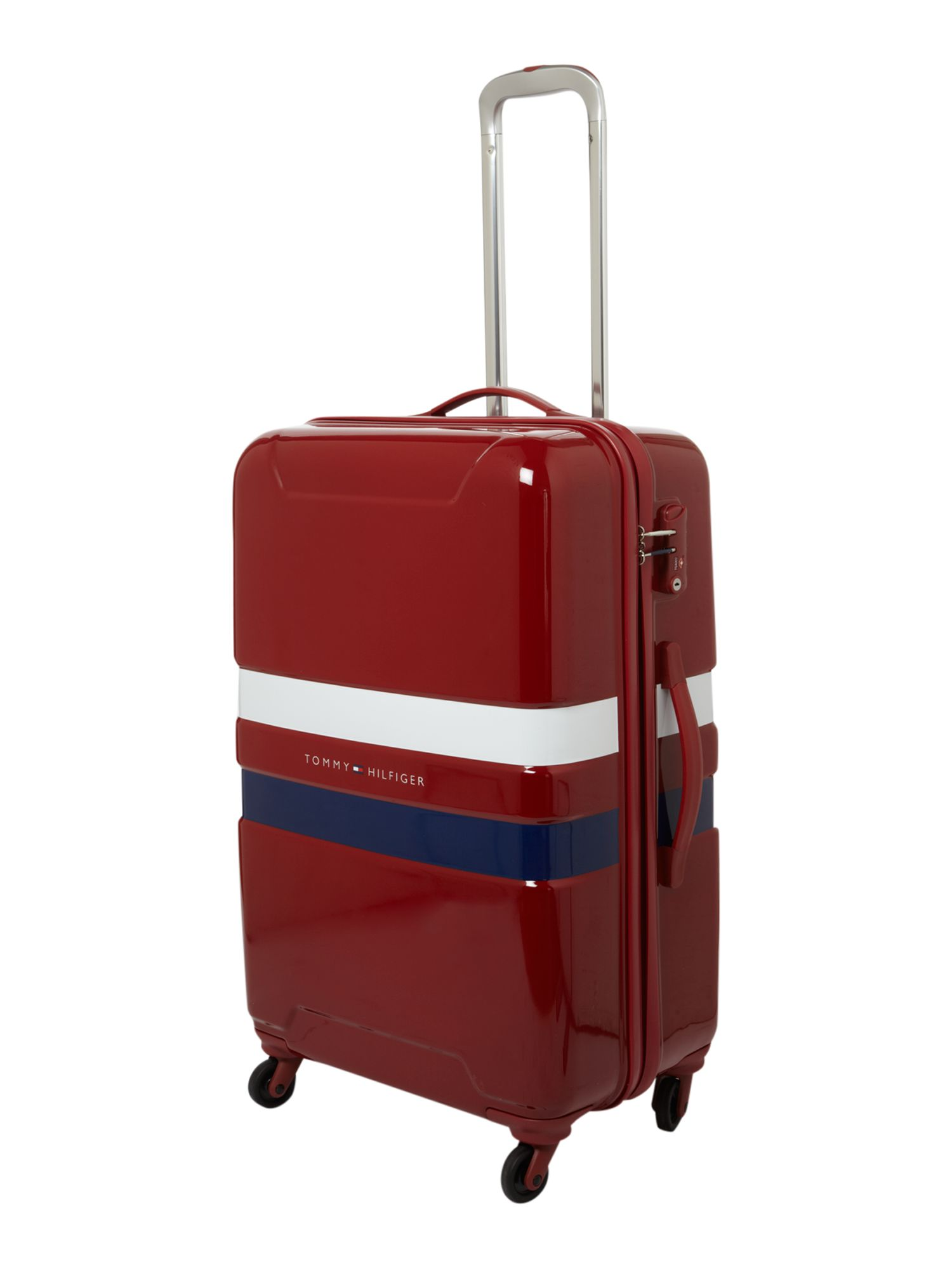 Cruise hard large trolley 4 wheel red