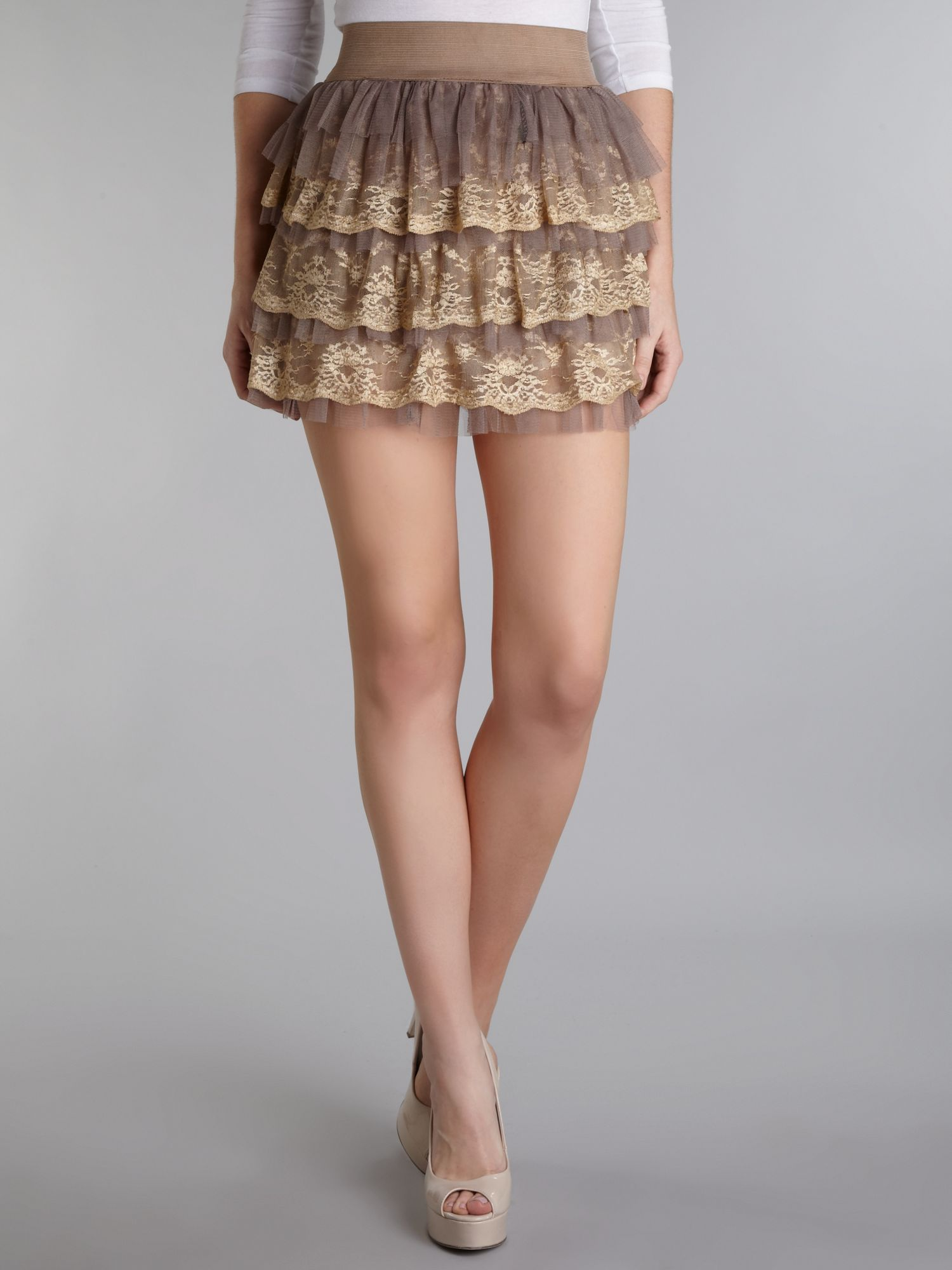 Lace layered skirt