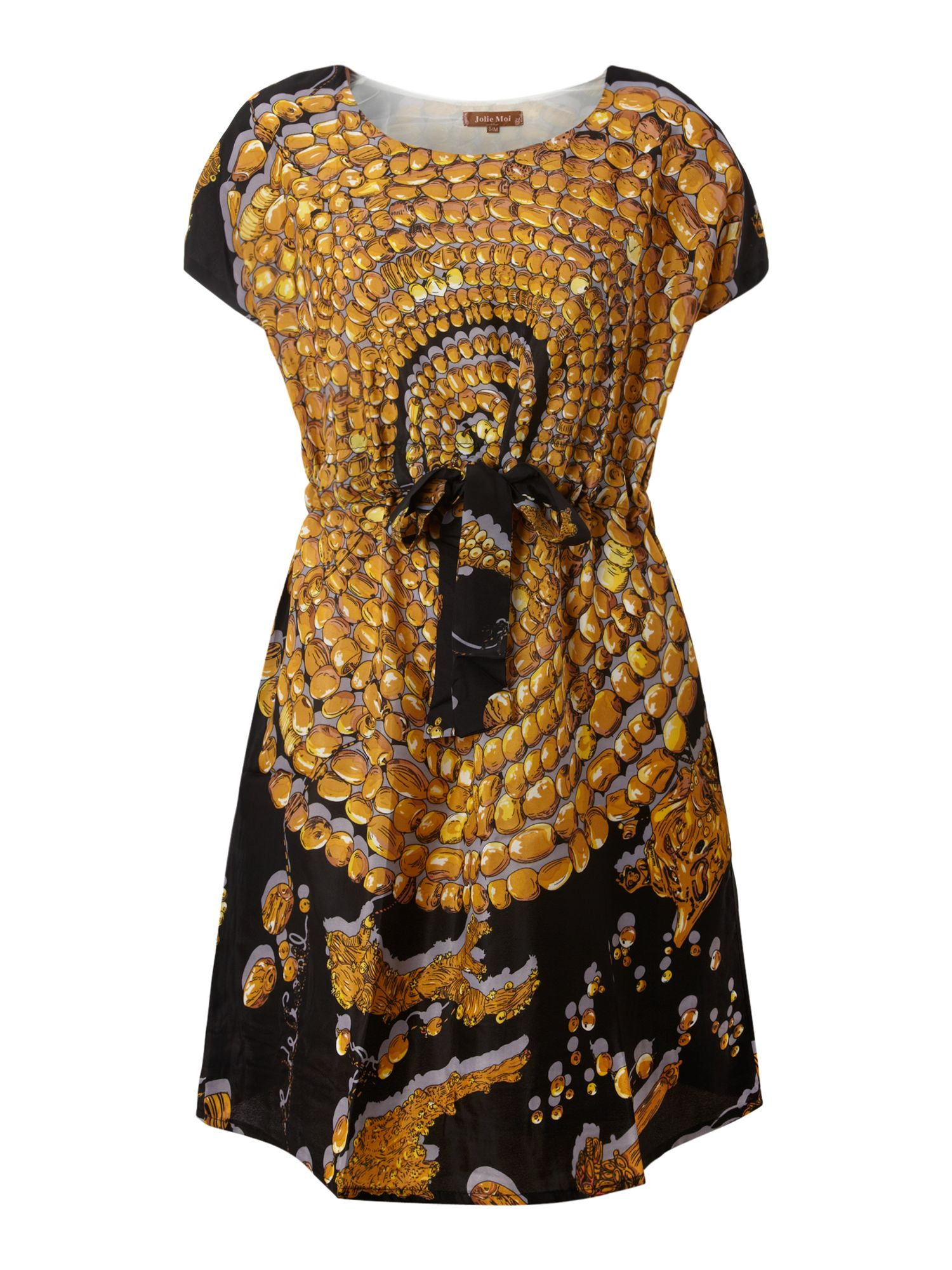 Jewellery printed tunic dress