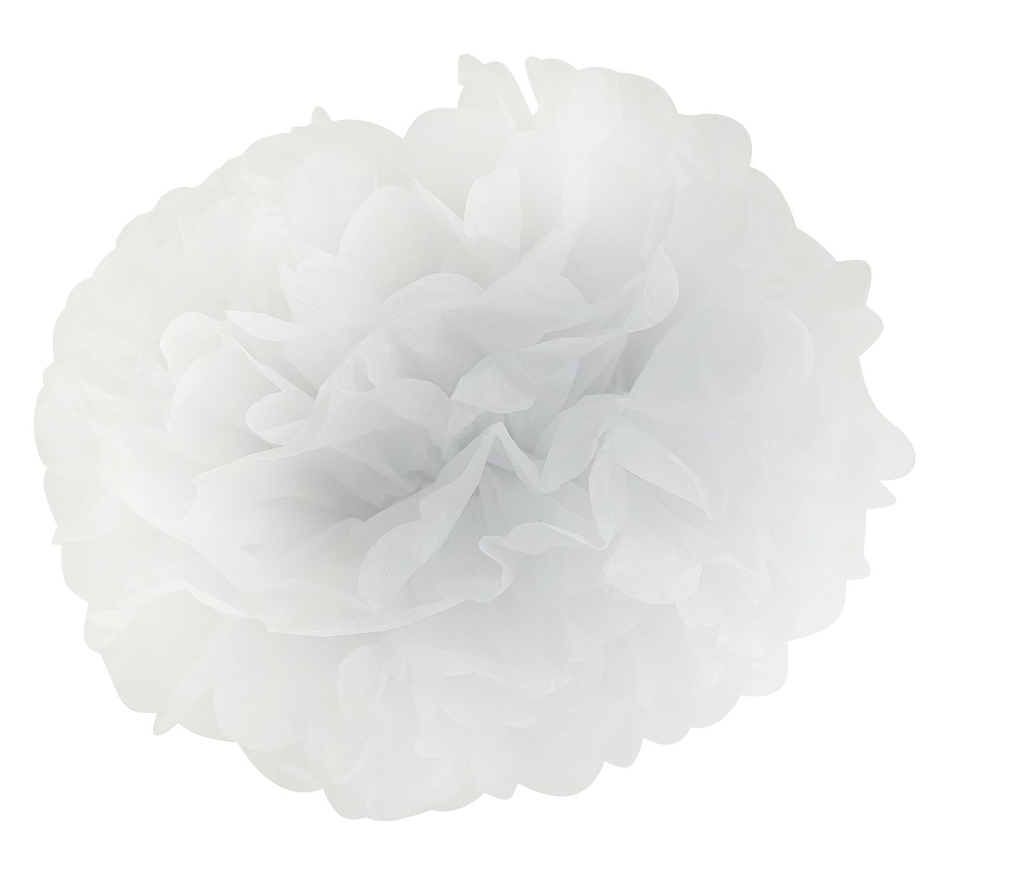 White paper flower hanging decoration