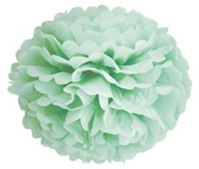 Green paper flower hanging decoration