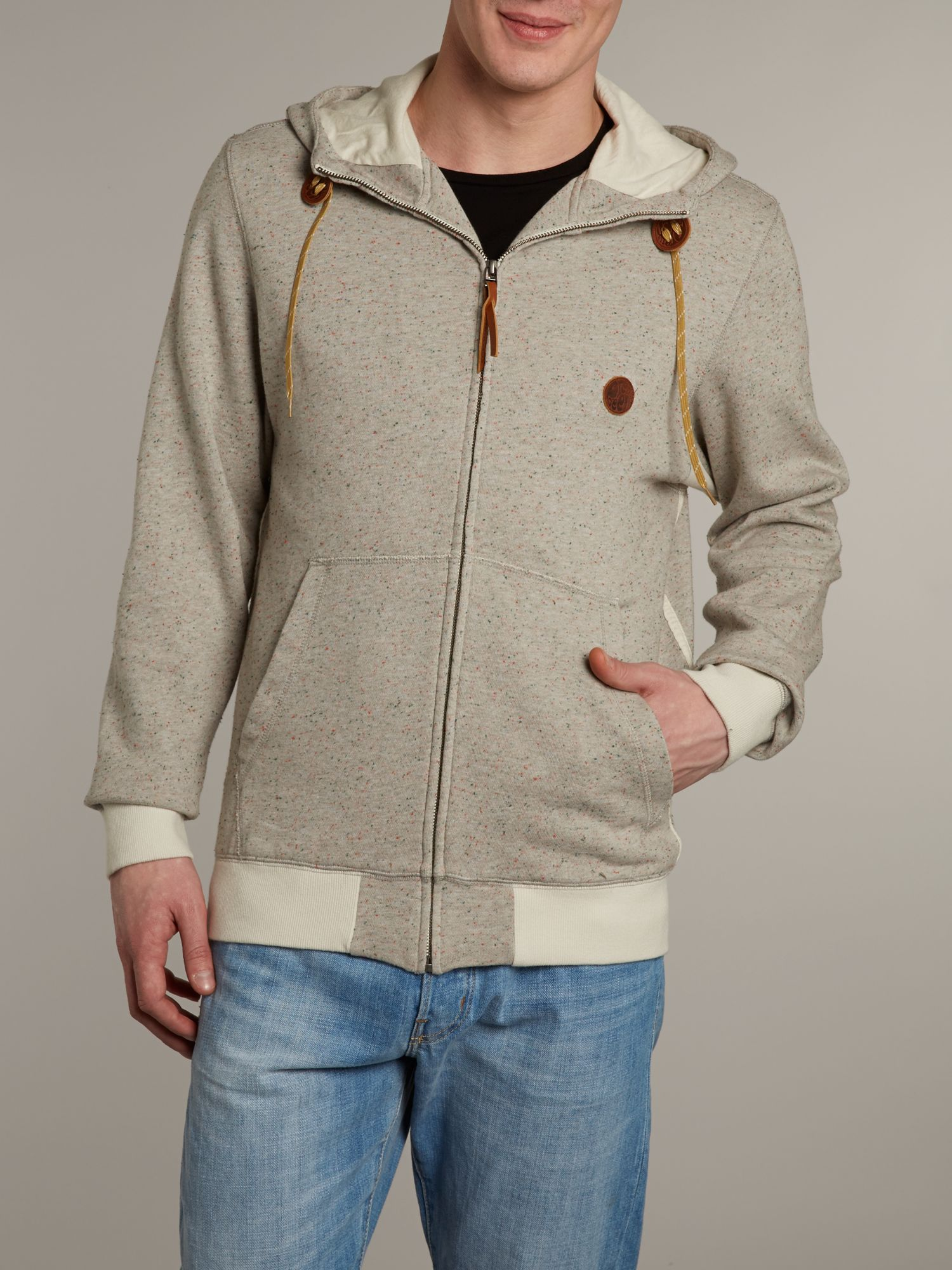 Zip up hooded sweater