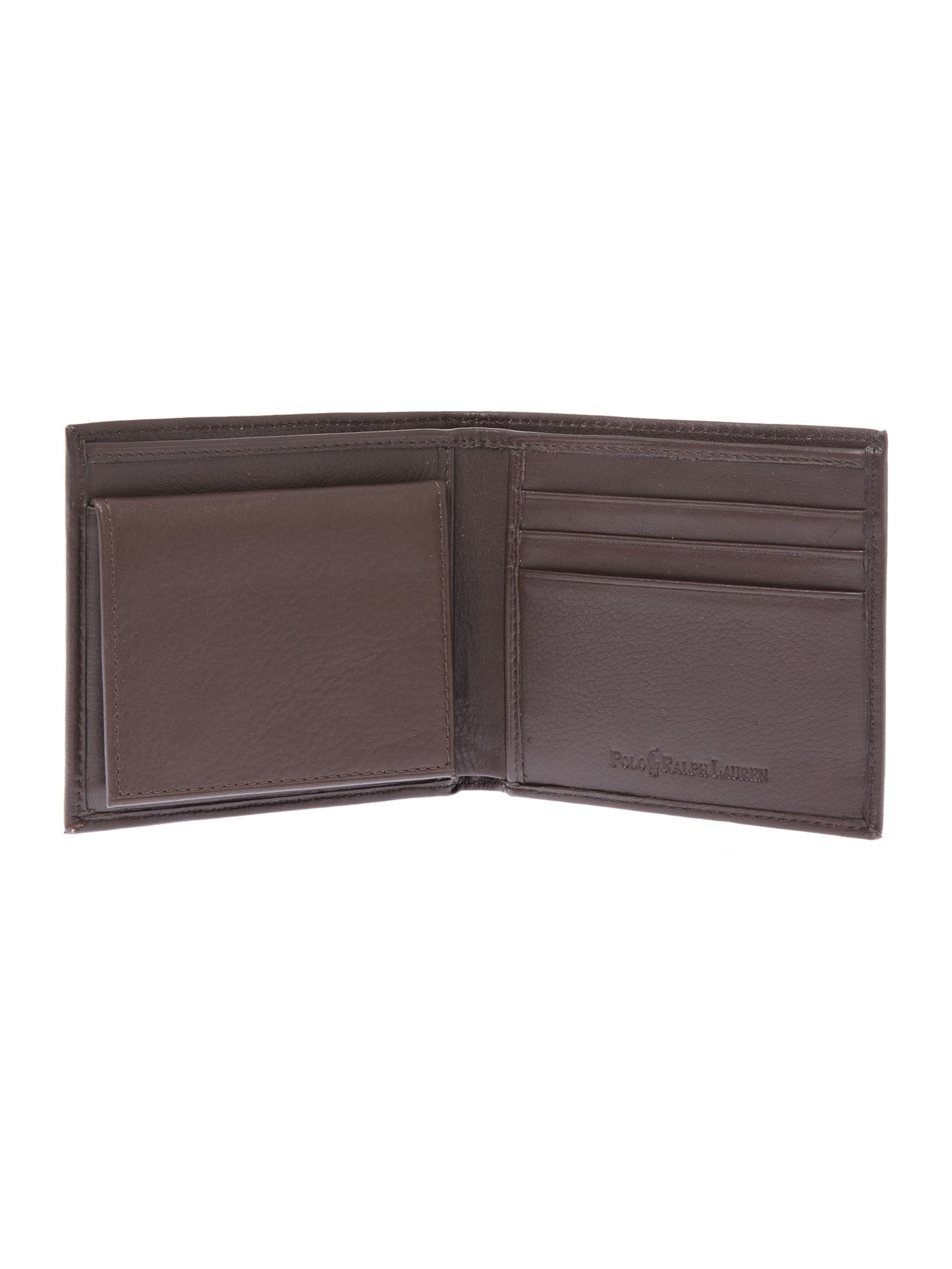 Exclusive pebbled leather wallet
