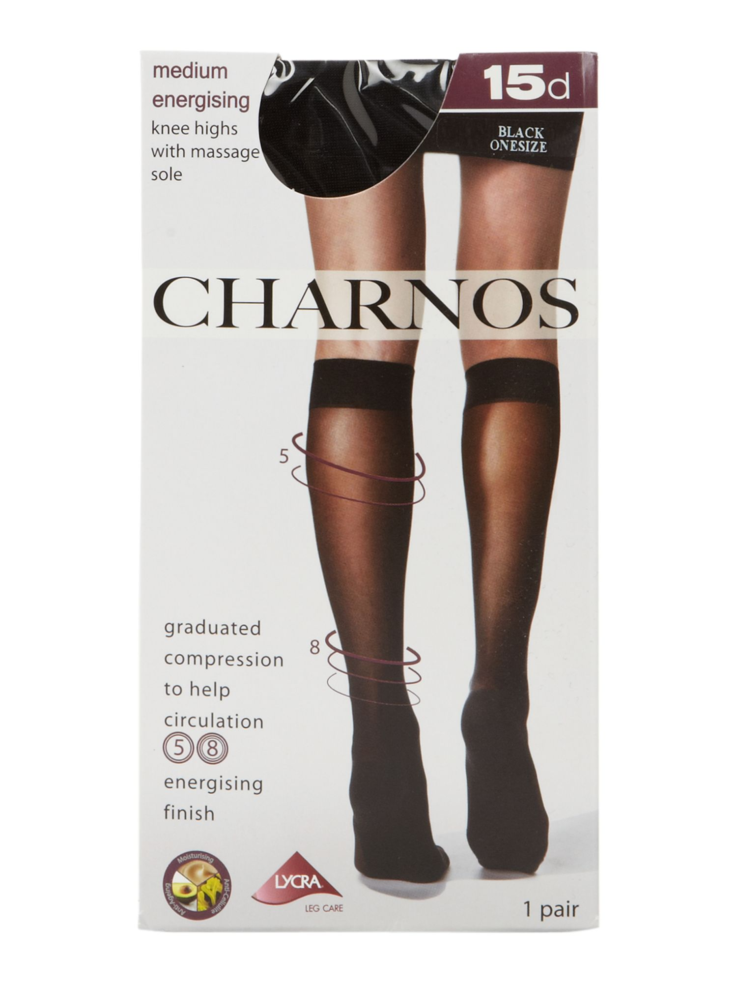 Medium Energising Support 15 Denier Knee Highs