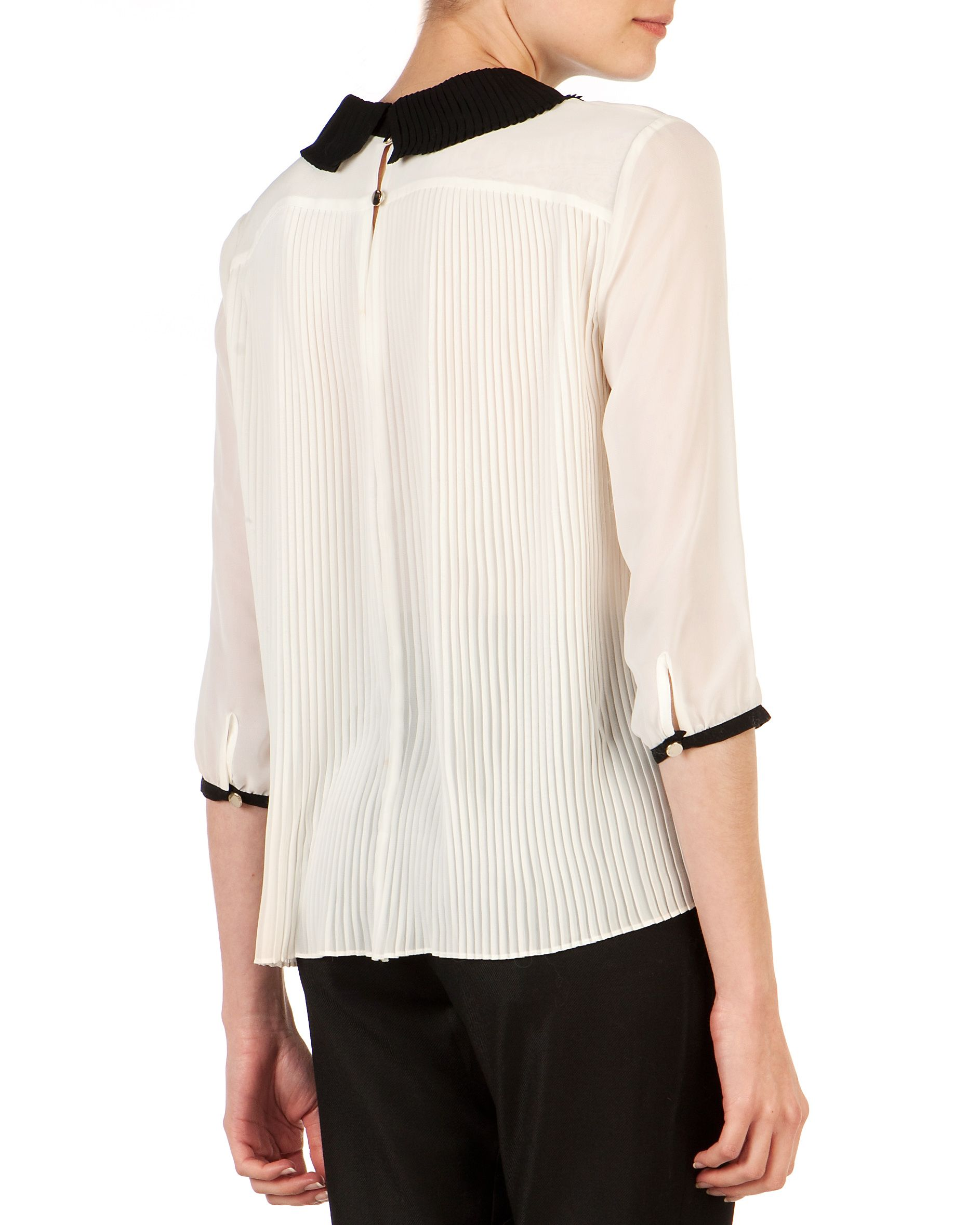 Jenya pleated collar top