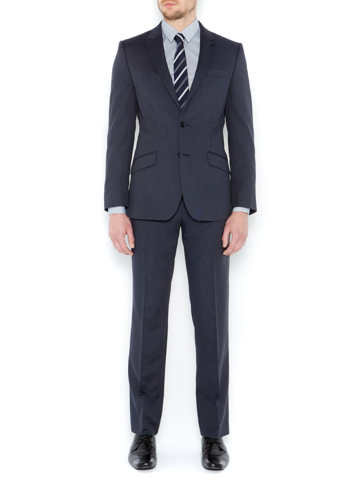 Grove pindot peak suit jacket