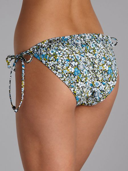 Piha Heather frill tie side brief