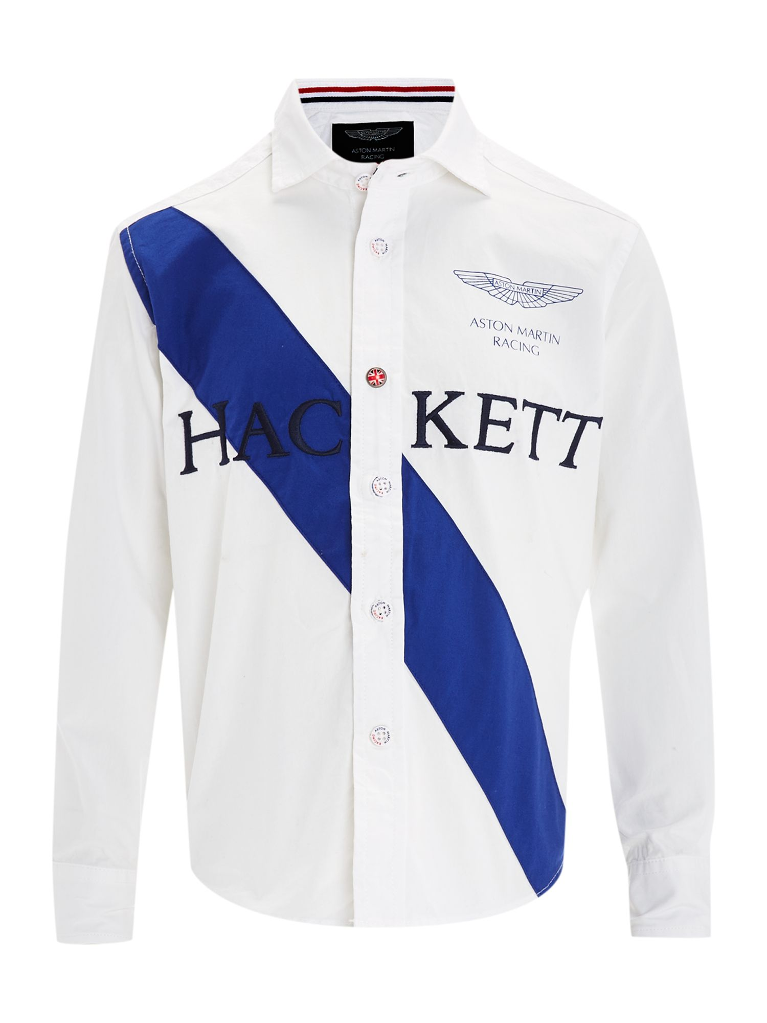 Boy`s Aston Martin chest stripe shirt