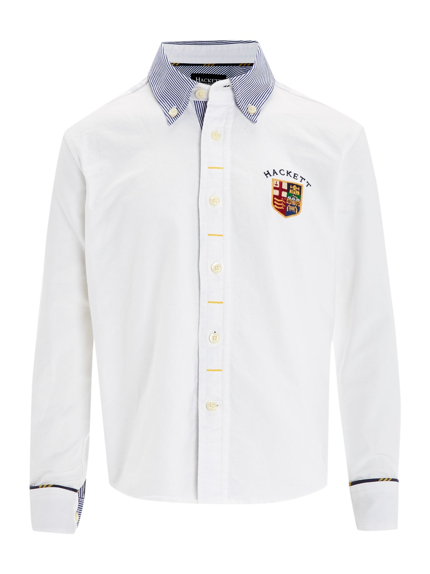 Boy`s poplin shirt with striped collar