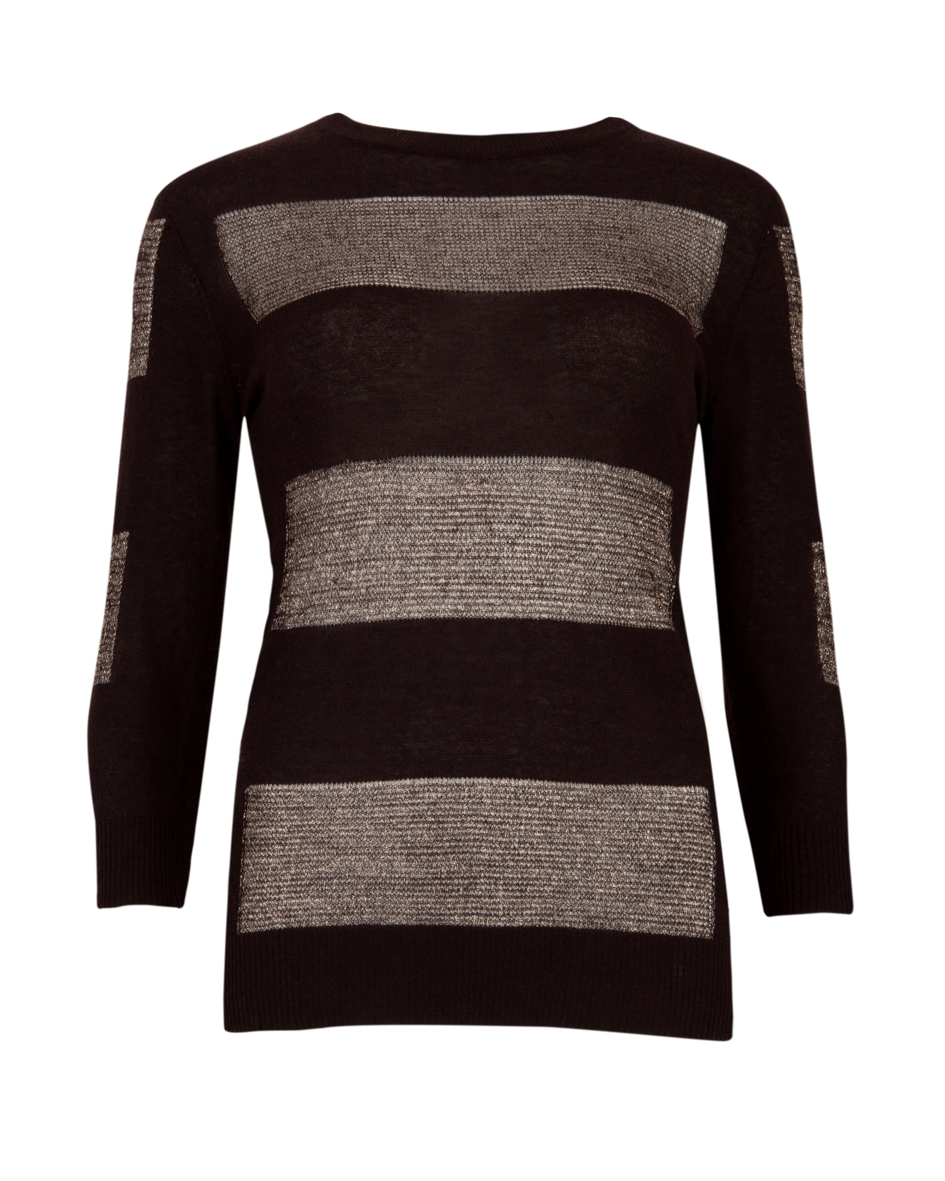Kayc metallic striped jumper